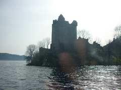 Urquhart Castle ruins off Loch Ness, 2011