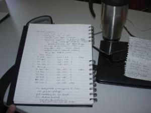 LiveScribe memo booklet